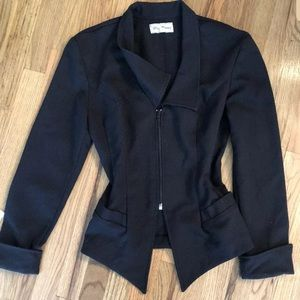 Stylish Paris blue black blazer Coat jacket M
